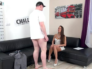 Dude can't get it up and eats out Mea Melone's tight pussy