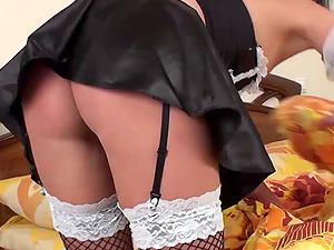 Horny Maid Loves Dildo