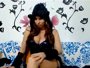 Bucharest girl big tits Alexandra Halloween costume