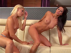 Brandy Smile and Brittney pleasure each other's love tunnels
