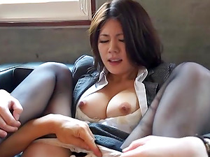 Torii Miki gives her partner a hot rim job in the office