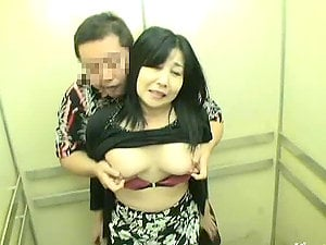 Elevator Romp With Horny Japanese Cougar!