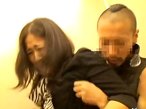 Lewd Stud Fucks Japanese Housewife In An Elevator.