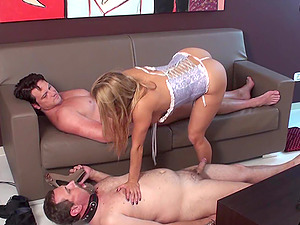 Hot Bbtches suck cocks in front of cuckolds