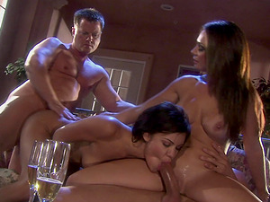 Hardcore foursome with porn stars Ruby Knox and Holly West