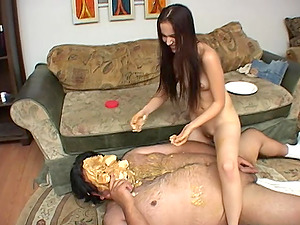 Hardcore food fetish fuck with Jennifer Loves Spluey and a fat guy