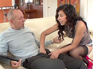 Latina Teen Nicole Ferrera Fucks Old Man