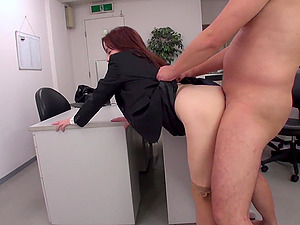 Thought provoking Japanese babe Yuri Kawana got a new job in the office