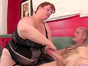Redhead BBW Julie Ann More Has Rough Sex