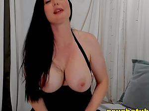 Busty Brunette Reveals Kinky Tricks On Webcam