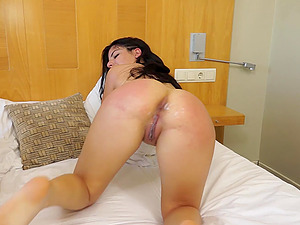 Big ass of Paula Teen fucked doggy style and gets her asshole creamed