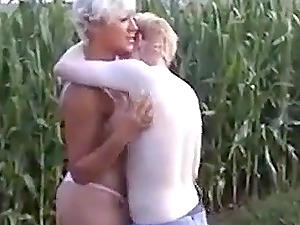 Pierced Nipple Mature and Young Stud Outdoor Fuck