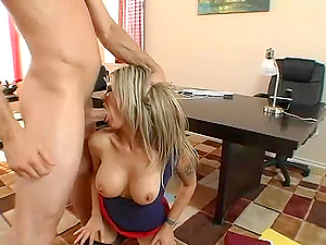 Ana Nova Is Promoted In The Office After A Hard Fuck