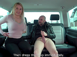 Allie picked up on the street to suck cock and swallow cum in a car