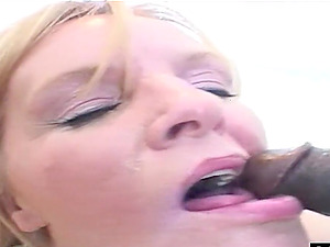 Nina decided to satisfy a horny guy by drooling on his big dick.