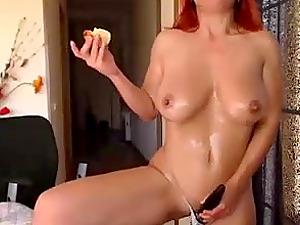 My redhead stepmom pleasuring her wet pussy on webcam