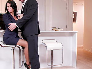 High class MILF in a tight dress Veronica Avluv ass and pussy fucked
