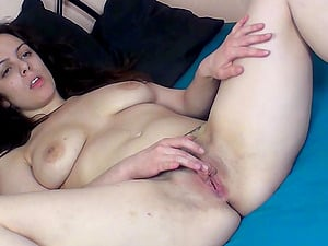 Eva Fingers Her Trimmed Pussy to Orgasm