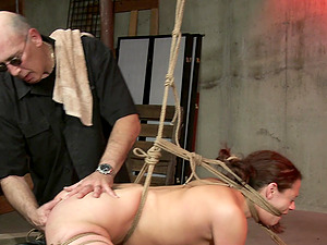 Ten Amorette gets tied up, gagged and has her tits clamped