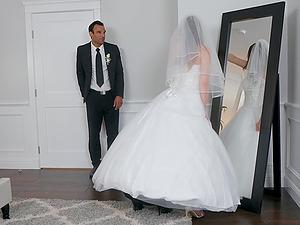 Bride to be Jillian Janson shares a dick with mature Nina Hartley