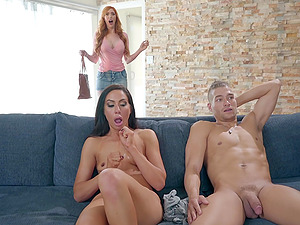 Slender horny MILF brunette Tiffany Brookes rides dick like a nympho