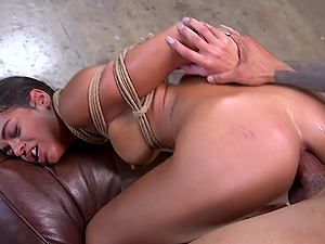 Petite Latina Vienna Black has her ass and pussy abused in bondage