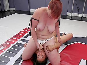 Abusive lesbian strapon fuck with Mistress Kara and Izamar Gutierrez