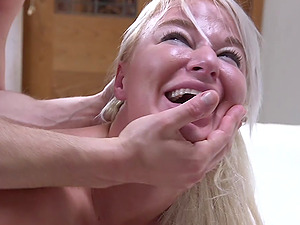MILF whore London River screams while getting abused in bondage