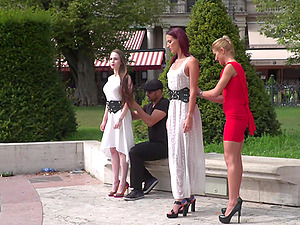 Angel Rush and her slutty teen friends pounded in an outdoor orgy