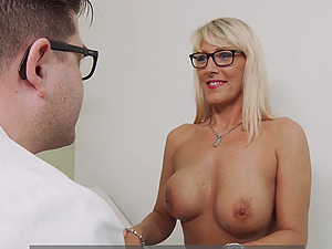 Busty German MILF fucked by her doctor