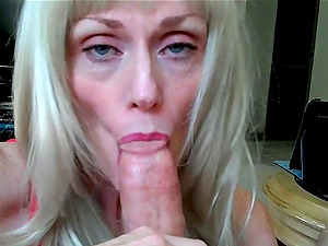 Incredible blowjob from amateur granny Wicked Sexy Melanie.