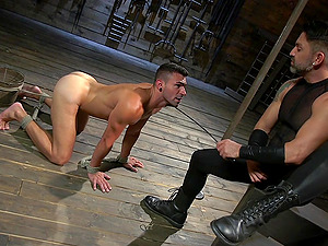 hard and fat cock in Dominic Pacifico's mouth can satisfy his sexual needs