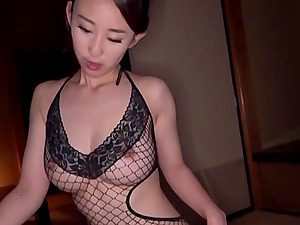 Before getting fucked, amazing Mori Hotaru sucked a friend's big dick