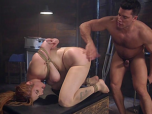 BDSM and a slave role is amazing experience with submissive Lauren Phillips