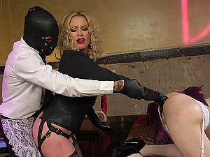 Kinky threesome experience can't be better for Maitresse Madeline Marlowe