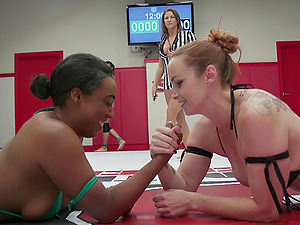 After big vibrator Kajira Bound is ready for a hard fuck with her friend