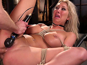 Submissive blonde Lexi Lowe craves for friend's long pecker deep inside her