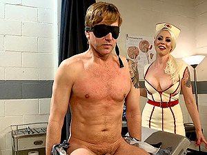 Hot blonde doctor Lorelei Lee knows how to help her gay patient
