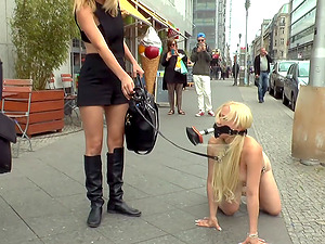 Celina Davis loves everything about humiliation and a slave role in public