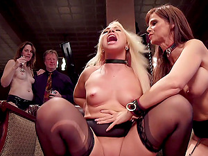 Bill Bailey and Katerina Kayare ready for the lesbian BDSM threesome