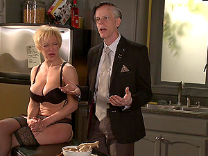silicone lady Danarama gets her pussy fucked by a handsome gentleman
