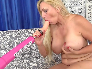 GILF Cala Craves Orgasmic Machine Sex