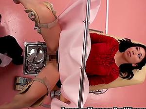 Japanese Asian Hairy Girl At False Gyno Spycam