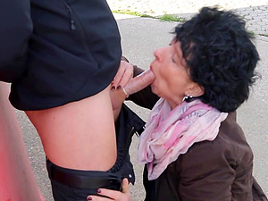 german old granny mature outdoor fuck