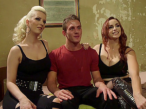 Dominant Bella Rossi adores torture and a BDSM threesome with friends