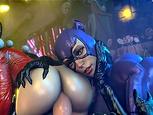 Sexy sluts from various video games and toons enjoy deep ass and deepthroat session