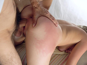 Vienna Rose seduces and fucks older man on the bed like never before