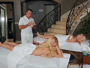 oiled and wet pussy of Brandi Love is everything her masseur wants to touch