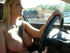 Naked Driving With Alanah Rae