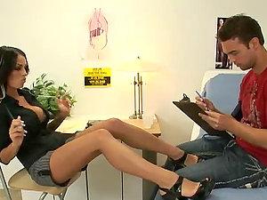 Sexy Medic Angelina Valentine Fellates and Rails In Xxx Lovemaking Vid